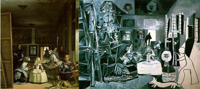 Comparación entre las Meninas de Velázquez (1656) y las de Picasso (1957)