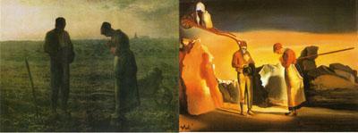 Comparación de El ángelus de Millet (1857) con el de Dalí (1935)