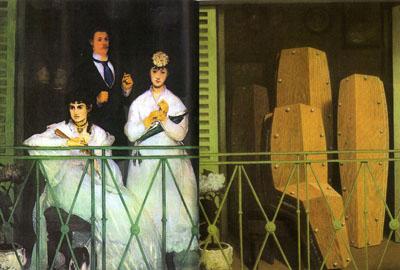 Comparación de El balcón de Manet (1868) con el de Magritte (1950)