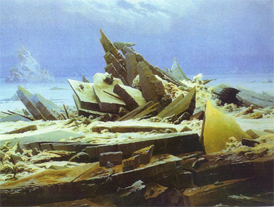 El mar polar (1823),  de Caspar Friedrich