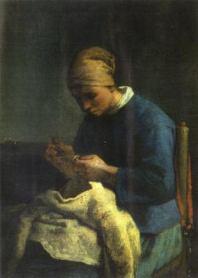 La costurera (1871), de  Millet