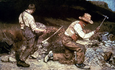 Los picapedreros (1849), de Gustave Courbet