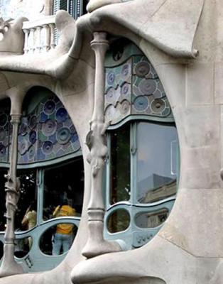 Detalle de la Casa Batllo (Barcelona)