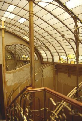 Detalle de la escalera del hotel Horta (Bruselas)