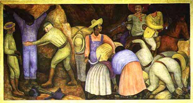 Los explotadores (1926), de Diego de Rivera
