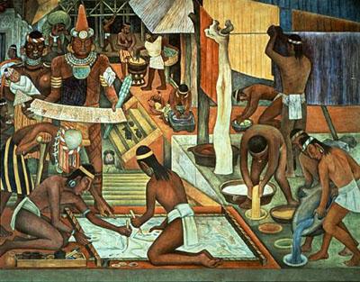 Indios trabajando,  de Diego de Rivera