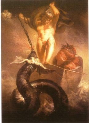 Thor golpeando la serpiente (1790), Henri Fuseli.jpg