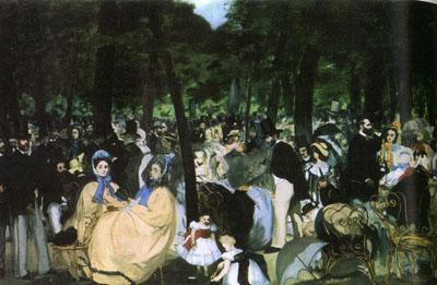 Música en el jardin de las tullerías (1862), de Edouard Monet