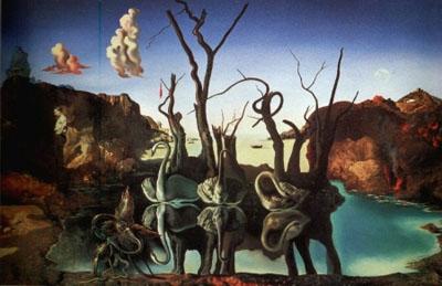Cisnes que se reflejan como elefantes (1937), de Salvador Dalí