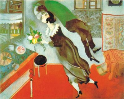 El cumpleaños (1915), de March Chagall