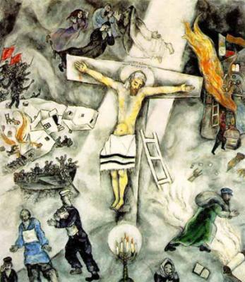 La guerra civil rusa (1923), de Marc Chagall