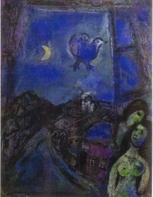 La tarde en la ventana, de Marc Chagall