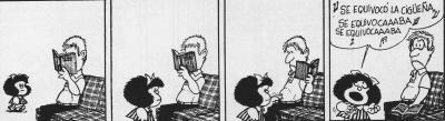 Mafalda. Se equivocó la cigüeña