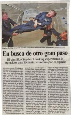 En busca de otro gran paso. Reportaje en El país, 28 de abril de 2007