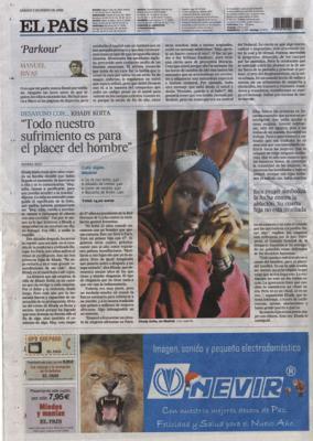 Todo nuestro sufrimiento es para el placer del hombre.  Reportaje de El País, 5 de enero de 2008