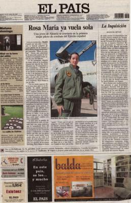 Rosa María ya vuela sola. Reportaje de El País, 16 de junio de 2007