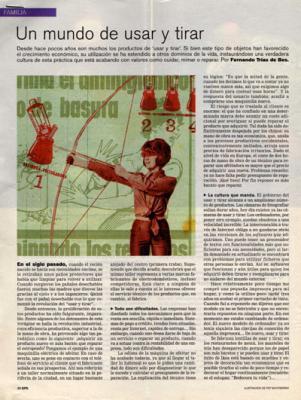 Un mundo de usar y tirar. Reportaje de El País, 29 de enero de 2006