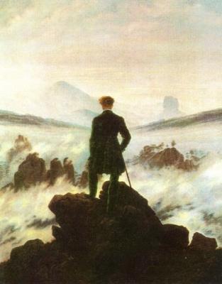 Caminante contemplando un mar de niebla (1817), de Caspar Friedrich