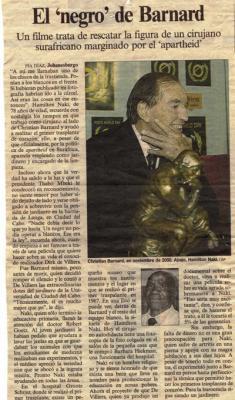El negro de Barnard. Reportaje de El País, 26 de abril de 2003