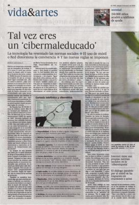 Tal vez eres un cibermaleducado. Reportaje de El País, 5 de enero de 2008