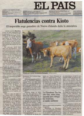 Flatulencias contra Kioto. Reportaje de El País, 16 de febrero de 2007