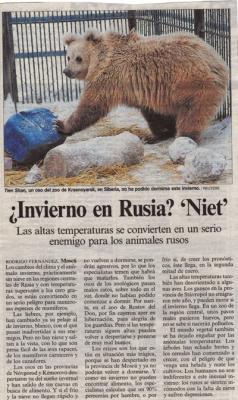 ¿Invierno en Rusia? Niet! Reportaje de El País, 13 de enero de 2007