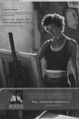 Ahora me siento feliz al haber recuperado la silueta (Corporación dermoestética). Publicado en El País