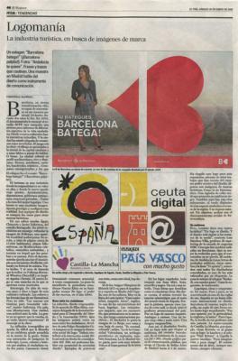 Logomanía. Noticia de El País, 26 de enero de 2006
