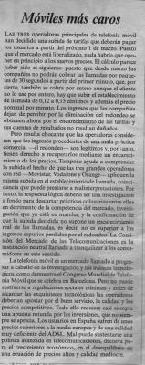 Móviles más caros. Reportaje de El País, 16 de feberero de 2006