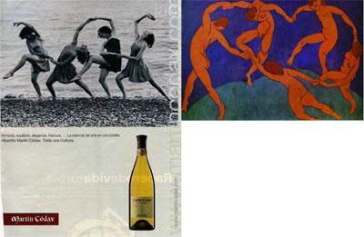 Las fuentes culturales de un anuncio publicitario: Martín Códax y La danza, de Henri Matisse