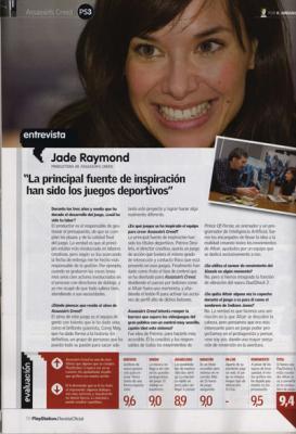 Entrevista a la productora de Assassin´s Creed. Publicado en Hobby consolas, enero de 2008