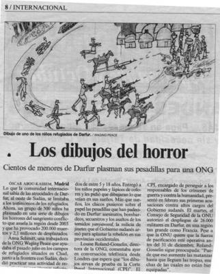 Los dibujos del horror. Reportaje de El País, 4 de Agosto de 2007