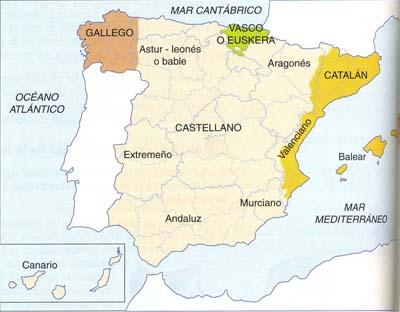 El mapa lingüístico de España