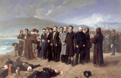 El fusilamiento de Torrijos(1888), de Antonio Gisbert
