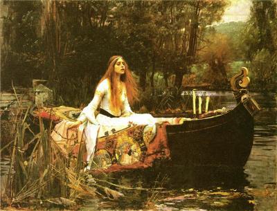 La dama de  Shalott (1888), de J. W. Waterhouse