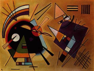 Negro y violeta (1923), W. Kandisnky.
