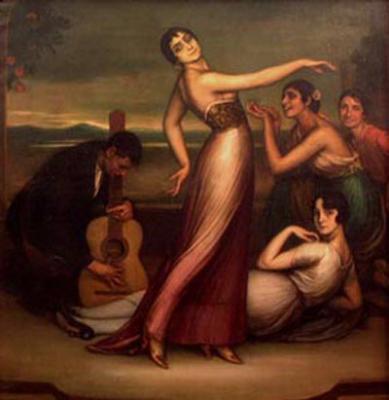 Alegrías (1917), de Julio Romero de Torres