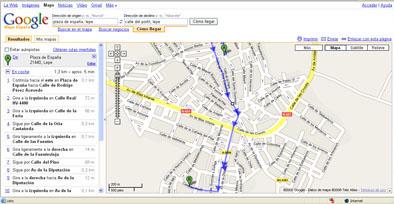 Cómo llegar, en Lepe, desde la Plaza de España al médico, según Google